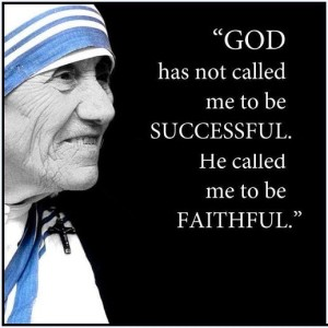 Faithfulness not successfulness